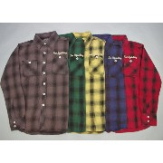☆TMT☆L/SL STANDARD CHECK WORK SHIRT