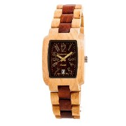 テンス 時計 メンズ 腕時計 木製 Tense Mens Maple Sandalewood Day Time Watch J8102MS DF Gold