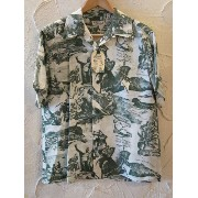 SUN SURF サンサーフ/S/S HAWAIIAN COCONUT TREE GREEN