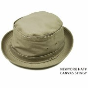 made in usa NEW YORK HAT CO ハット ポークパイ ニューヨークハット CANVAS STINGY ポークパイハット 春 夏 春夏 帽子 大き...