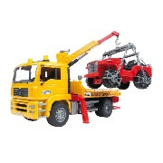 Bruder Man ブルーダー レッカー車 Tga Tow Truck With Cross Country Vehicle