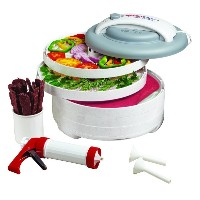 Nesco ネスコ 食品乾燥機 ジャーキーメーカー American Harvest FD-61WHC Snackmaster Express Food Dehydrator All-In-One Kit with Jerky Gun...