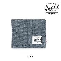 HERSCHEL ハーシェル 財布 ウォレット ROY WALLET CHARCOAL CROSSHATCH/BLACK