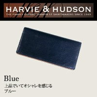 Harvie and Hudson YANKEE社レザー 長財布 ブルー HA-3001-BL【smtb-k】【ky】【1021_flash】
