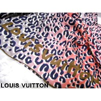 LOUIS VUITTON ルイヴィトン 大判 スカーフ レオパード シルク ストール ショール レディース ギフト プレゼント ...