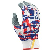 エボシールド メンズ 野球 グローブ【Evoshield Prostyle Batting Gloves】Digi Camo Red/Blue/White