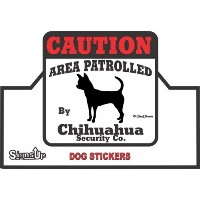 【CAUTION】 Chihuahua Security Co. ステッカー:チワワ 耐水性 シール Made in U.S.A [並行輸入品]