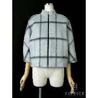 FOXEY NEWYORK フォクシー コート 38 Windowpane Mohair Crop Coat Collection 【Aランク】【中古】ts280425