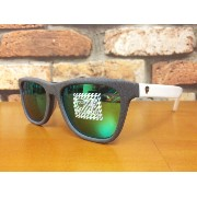 recs GINGA s57-01 (BLACK/BLACK×EMERALDO GREEN MIRROR) 〜レックス サングラス ギンガ〜
