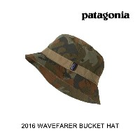 2016 PATAGONIA パタゴニア 帽子 ハット WAVEFARER BUCKET HAT FCMH FORREST CAMO:HICKORY