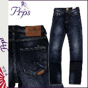 PRPS ピーアールピーエス ヴィンテージデニム インディゴ E63P154V RAMBLER COTTON LINEN JEAN SKINNY FIT LOW FRONT RISE コット...