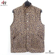 12AW uniform experiment LEOPARD QUILTING VEST キルティング ベスト 豹柄 【中古】 DN-2659