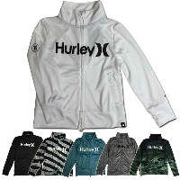 Hurley キッズ ラッシュガード RASH ZIP HIGH NECK O&O BKNZLY/子供用【コンビニ受取対応商品】【RCP】
