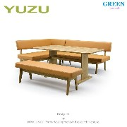 33%OFF [ダイニング4点] GREEN home style YUZU SOFA LD TABLE + LD CHAIR A + LD CHAIR B[L] + LD BENCH (グリーン ホ...