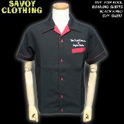 SAVOY CLOTHINGサヴォイクロージング◆SVY FOR KOOL BOWLING SHIRTS◆◆BLACK×RED◆SVY-SH257