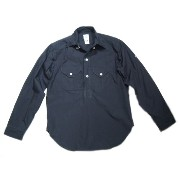 【期間限定30%OFF!!】POST OVERALLS(ポストオーバーオールズ)/#1298 TROPI-CRUZ LLC FEATHER POPLIN SHIRTS/navy