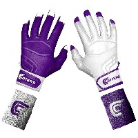 カッターズ メンズ 野球 グローブ 手袋【Cutters Prime Command Yin Yang Batting Gloves】Purple/White