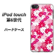 iPod touch 6 第6世代 ハードケース / カバー【753 マーガレット大(レッド系) 素材クリア】★高解像度版(iPod touch6/IPODTOUCH6...