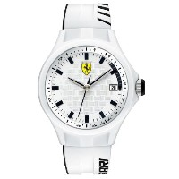 Ferrari フェラーリ メンズ腕時計 0830124 Watch Pit Crew Mens - White Dial Quartz Movement
