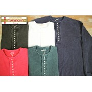 ★TOWNCRAFT(タウンクラフト) 9oz L/S 10B HENLEY 9オンス 長袖10ボタンヘンリーネック TC15F010AM/5color
