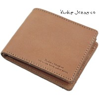 Nudie Jeans co/ヌーディージーンズ CALLESSON LEATHER WALLETレザーウォレット/二つ折り財布 NATURAL(ナチュラル)