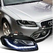 US アウディ For 2006-2008 Audi A4 Projector +Led
