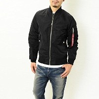 ALPHA (アルファ) ライトMA-1 ALPHA INDUSTRIES TA1051 BLACK:101 Sサイズ