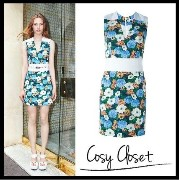 CARVEN2016SS☆Floral print one-piece CARVEN(カルヴェン) バイマ BUYMA