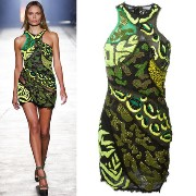 16SS VER048 LOOK55 WILD PATCH EMBROIDERED MINI-DRESS VERSACE(ヴェルサーチ) バイマ BUYMA