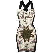 Jean Paul Gaultier Vintage electrical print bodycon dress