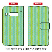 【送料無料】 手帳型スマートフォンケース uistore 「Textile green」 / for iida INFOBAR A03/au 【SECOND SKIN】a03 ケース a03 ...