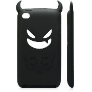 iPod Touch 4 Silicone Case(Black ) iPod Touch 4 悪魔 シリコンケース ブラック(全8色)(363-2)