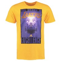 Kobe Bryant Los Angeles Lakers adidas Two Decades of Excellence T-Shirt メンズ Gold NBA Tシャツ コービー...