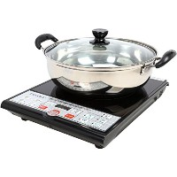 Tayama SM15-16A3 Induction Cooker with Cooking Pot, Black by TAYAMA