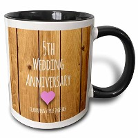 3dローズInspirationzStore–5th結婚記念日ギフト–木製Celebrating 5Years Together–Fifth Anniversaries 5歳用–...