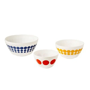 Pyrex 1125471 Vintage Charm Spot-On 3 Piece Mixing Bowl Set, Multicolor by Pyrex