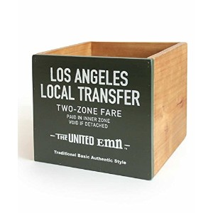 THE UNITED EMN ウッドスクエアボックス WOOD SQUARE BOX A(OLIVE) 700028-3