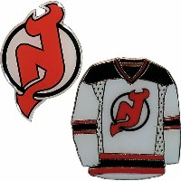 NHLジャージ&チームロゴ ピン2種セット デビルズ New Jersey Devils 2-Piece Pin Set