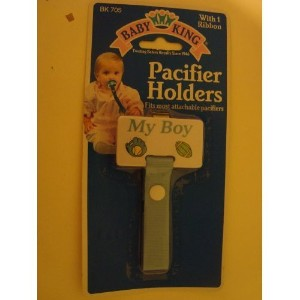 My Boy Blue Pacifier Holder by Baby King