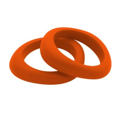 Organic Bangle - Silicone Jewelry (Teething/Nursing) (Carrot) by Jellystone Designs
