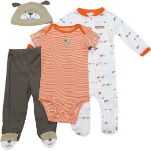 Carter's(カーターズ) ギフト4点セット(いぬ/Orange)/ 3M [並行輸入品] [Baby Product]