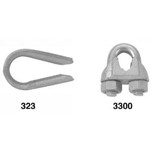 """Apex Cooper CampbellT7670609Wire Rope Cable Thimble-1/8"""" WIRE ROPE THIMBLE (並行輸入品)"""