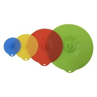 Silicone Lids - Set of 4 Different Sizes - Bowl Cover - Microwave Food Cover by Easy Lid