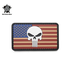 15%OFFクーポン対象◆【即日発送】5IVE STAR GEAR ファイブスターギア 6722 VINTAGE FLAG PUNISHER MORALE PATCH ギフト プレゼント WIP...