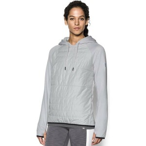 アンダーアーマー レディース トップス パーカー【Under Armour Storm Swacket Hoodie】Glacier Grey/Silver