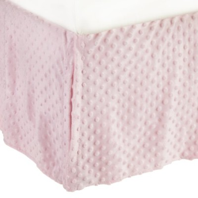 American Baby Company Heavenly Soft Minky Dot Tailored Crib Skirt, Pink by American Baby Company
