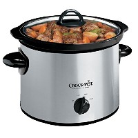 Crock-Pot 3-Quart Round Manual Slow Cooker, Stainless Steel, SCR300SS by Crock-Pot