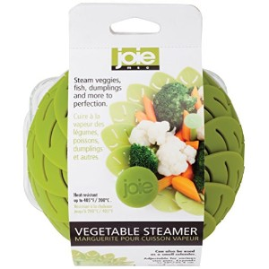 Joie Adjustable Non-Scratch Vegetable Steamer Basket Insert, Collapsible, Expands to 10-inch by MSC...