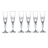 RCR Crystal Melodia Collection Champagne Flutes Glass Set [並行輸入品]