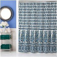 Collier Campbell Pondicherry Shower Curtain, One Size, Blue [並行輸入品]